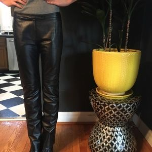 BCBG Black Leather pants size 4
